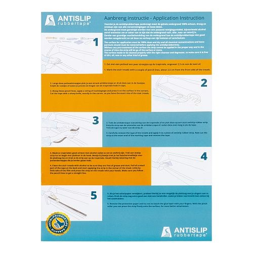 montage instructie antisliprubbertape