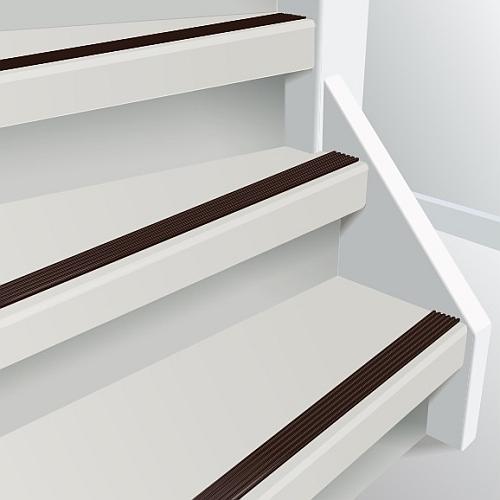 anti slip rubber trap strip chocolade bruin