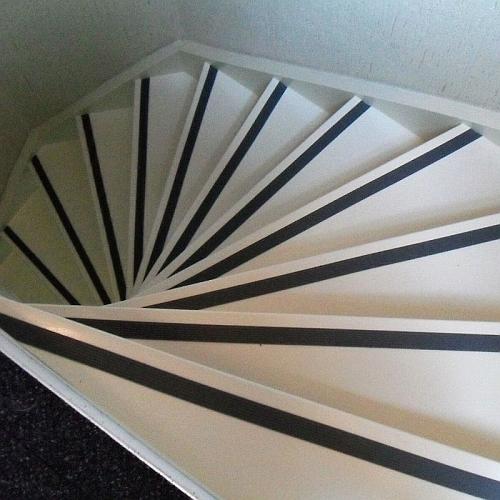 trap strip zwart