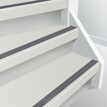 voorbeeld witte trap grijze strip