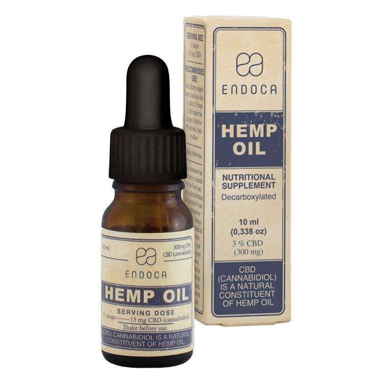 CBD olie 3% - 10 ml | 300mg Endoca