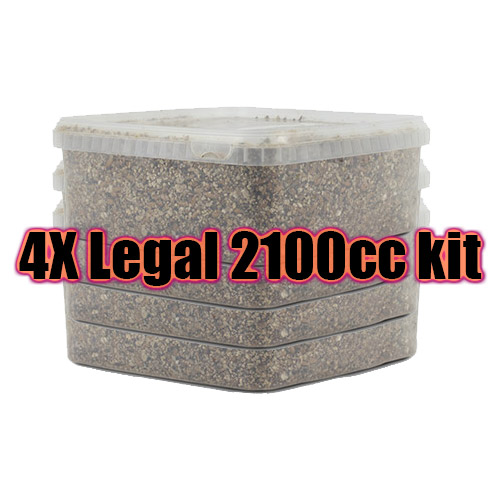 4 X Sterilised substrate kit XL 2100cc - Legal in each country