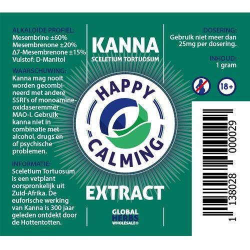 Kanna Happy calming extract 1g   Sceletium Tortuosum