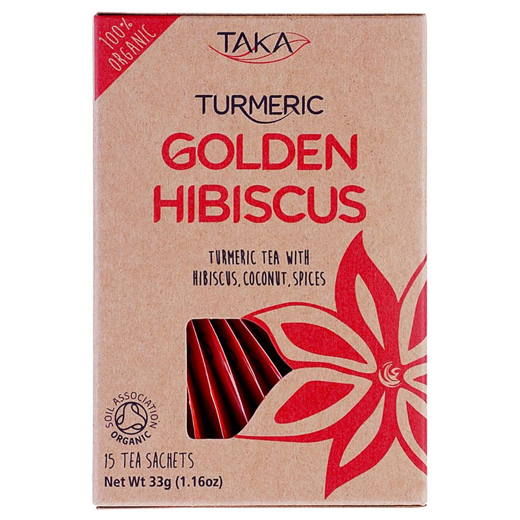 Taka Turmeric Golden Hibiscus - 15 bags