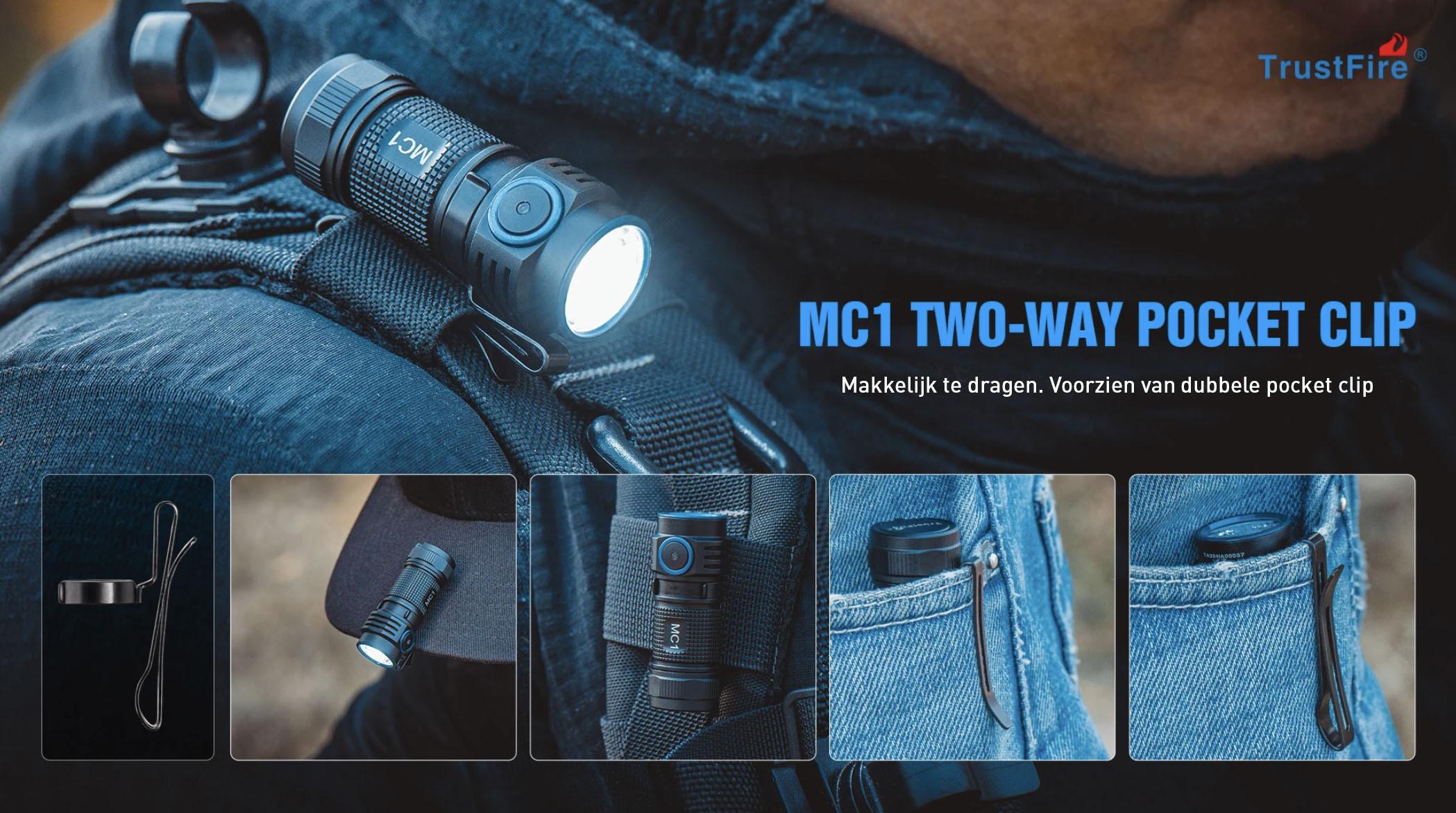 MC1 Zaklamp 1000 lumen - Trustfire