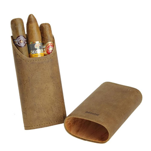 sigarenetui leder bruin 2-3 sticks - Adorini