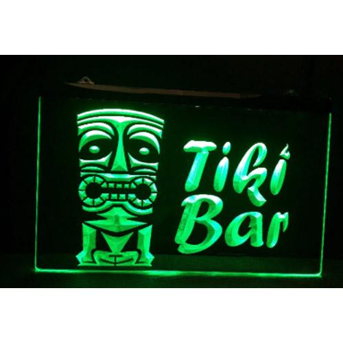 Tiki Bar Neon Bord - 200 x 300 mm
