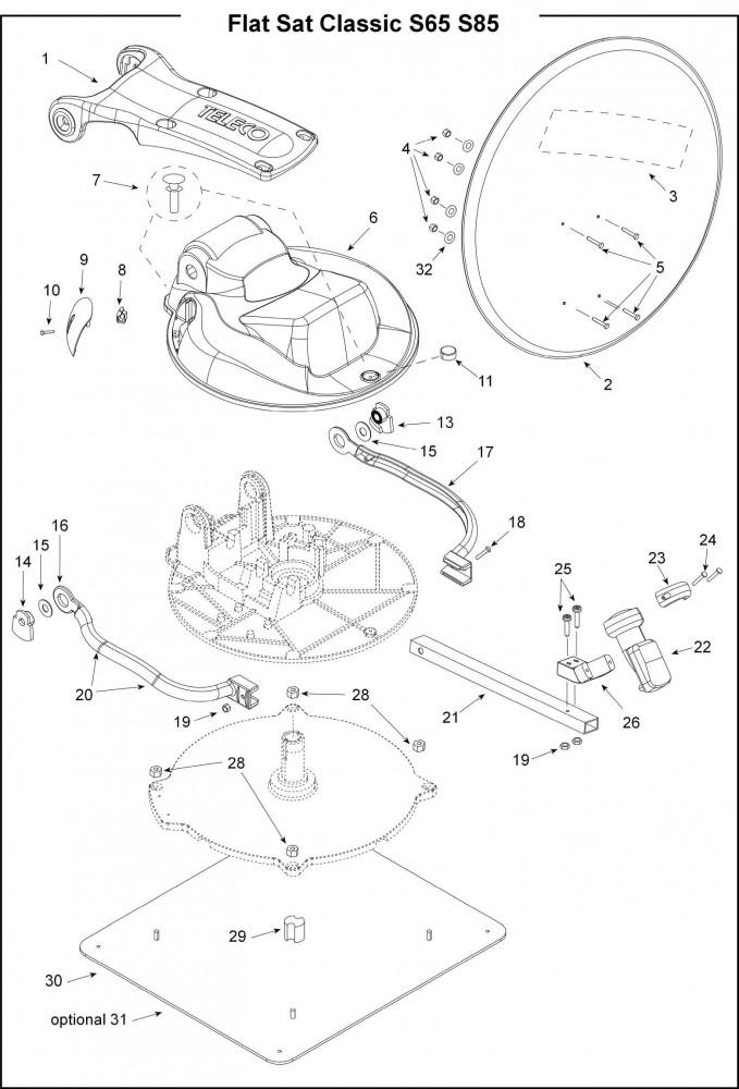 schotel-onderdelen