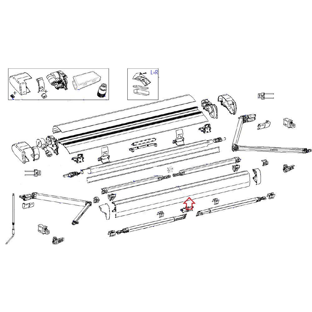 Thule 6300 Lead Rail 3.75 Antraciet