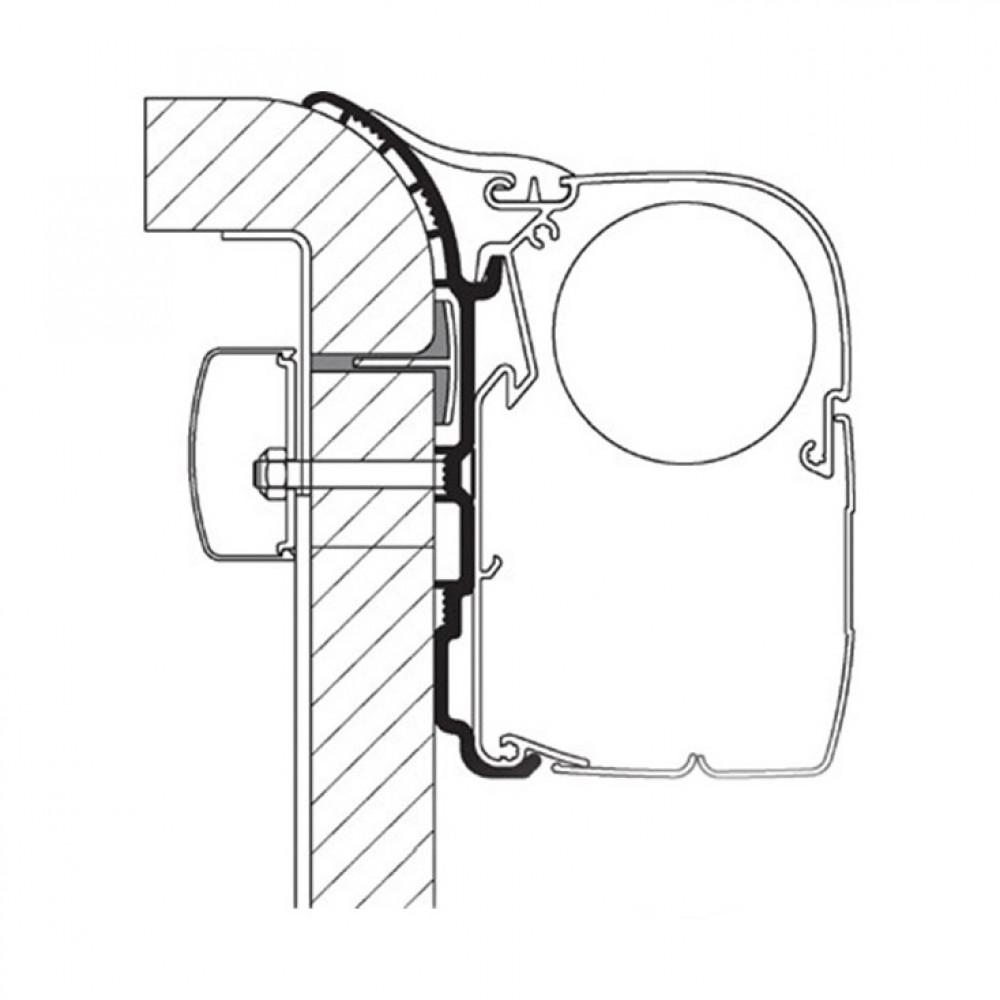 Thule Burstner Ixeo T680 adapter 4,00m