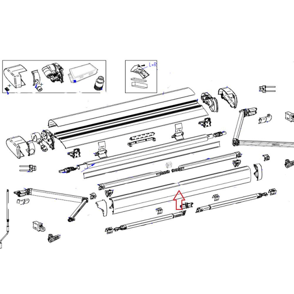 Thule 6300 Lead Rail 2.60 Wit