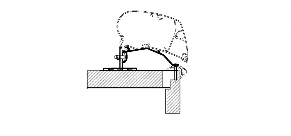 Thule Caravan roof adapter - 4,50m
