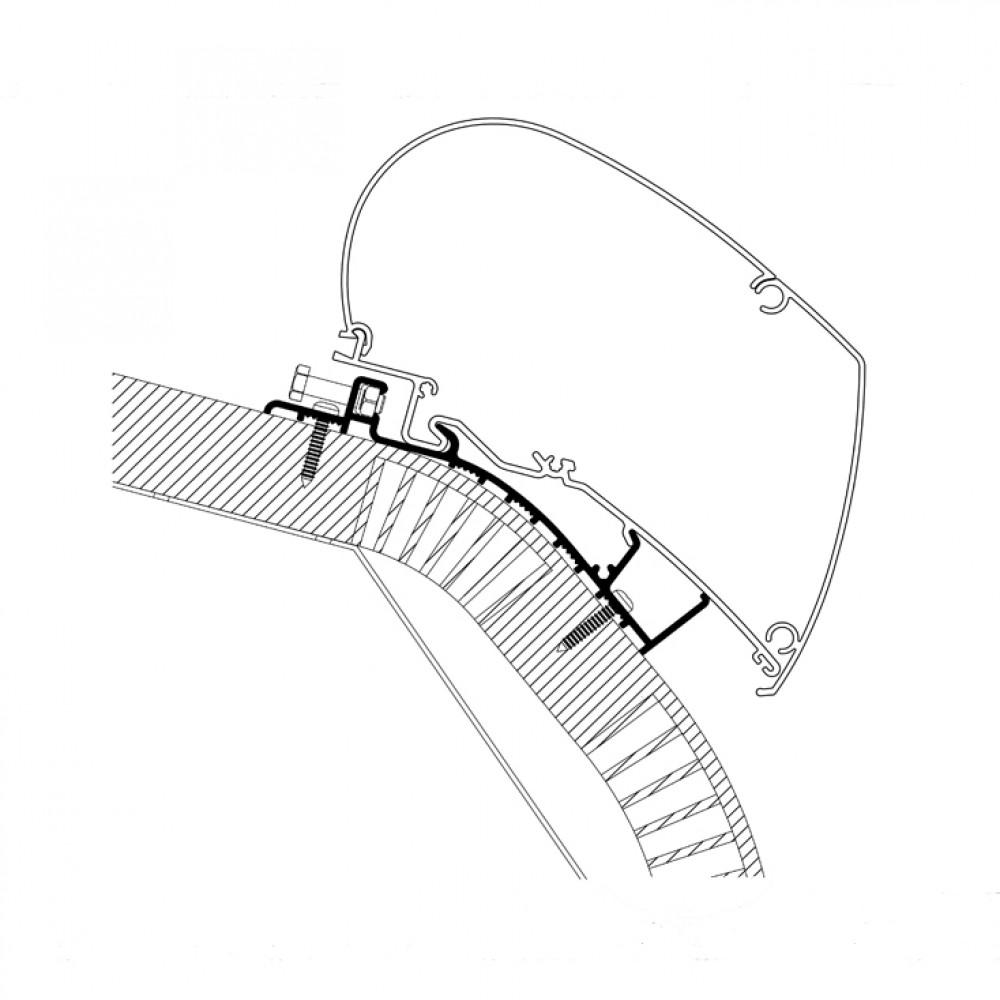 Thule Carthago adapter serie 6 - 6,00m >2015