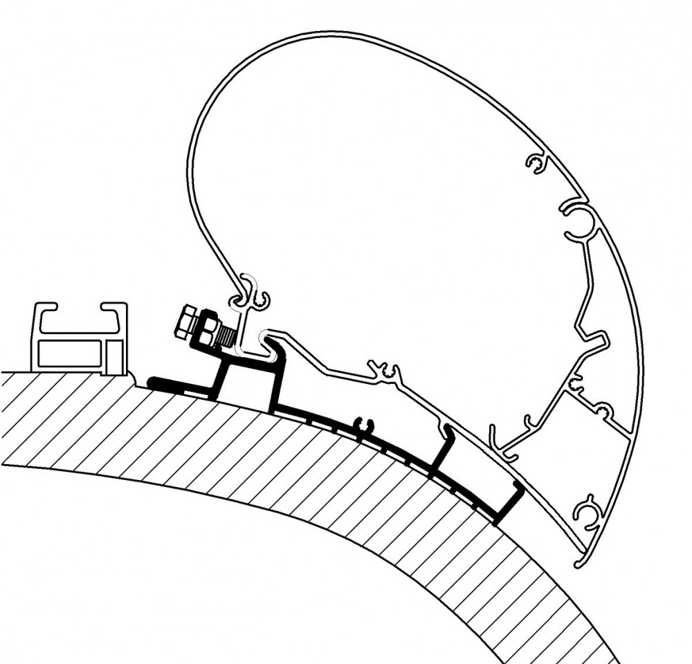 Thule Carthago Chic Adapter Serie 6 - 4,00m