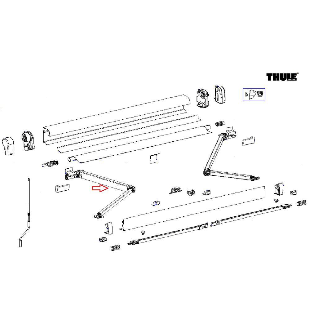 Thule 4900 Scharnierarm links 260