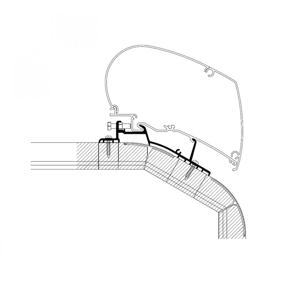 Thule LMC Expl/Cruiser MJ2018 Roof adapter 5.00m