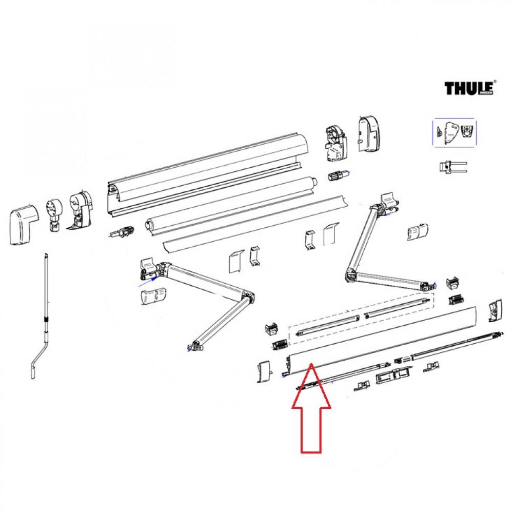 Thule Lead Rail 5200 4.00 Antraciet