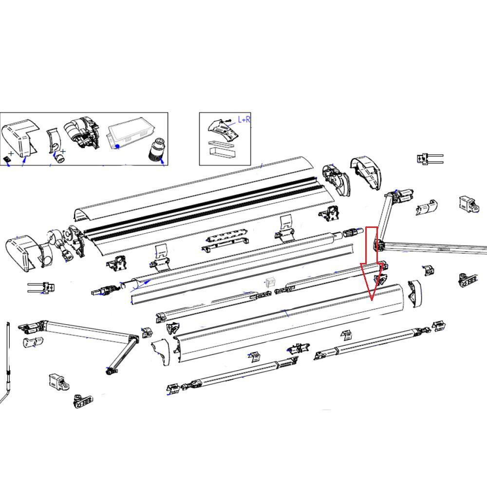 Thule 6300 Lead Rail 5.00 Wit
