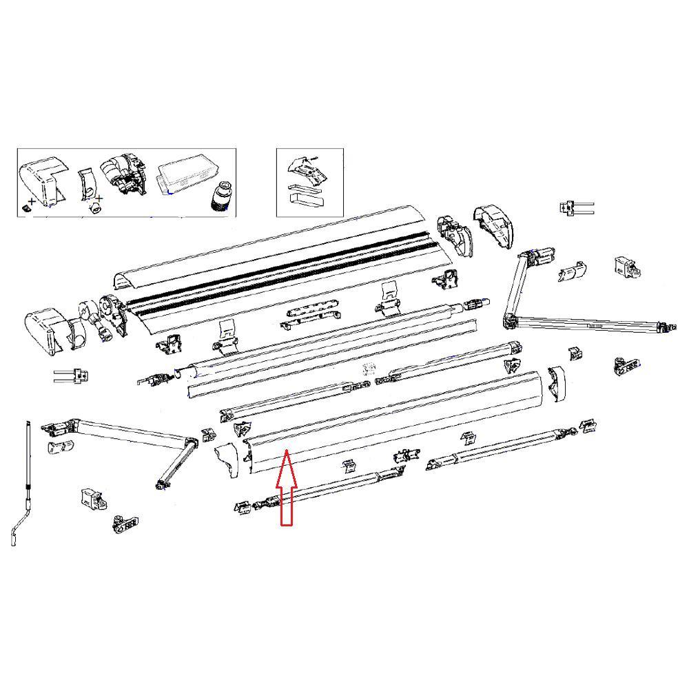 Thule 6300 Lead Rail 3.00 Wit