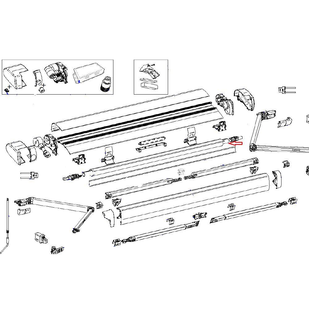 Thule 6300 3.75 Roller Tube D=30mm