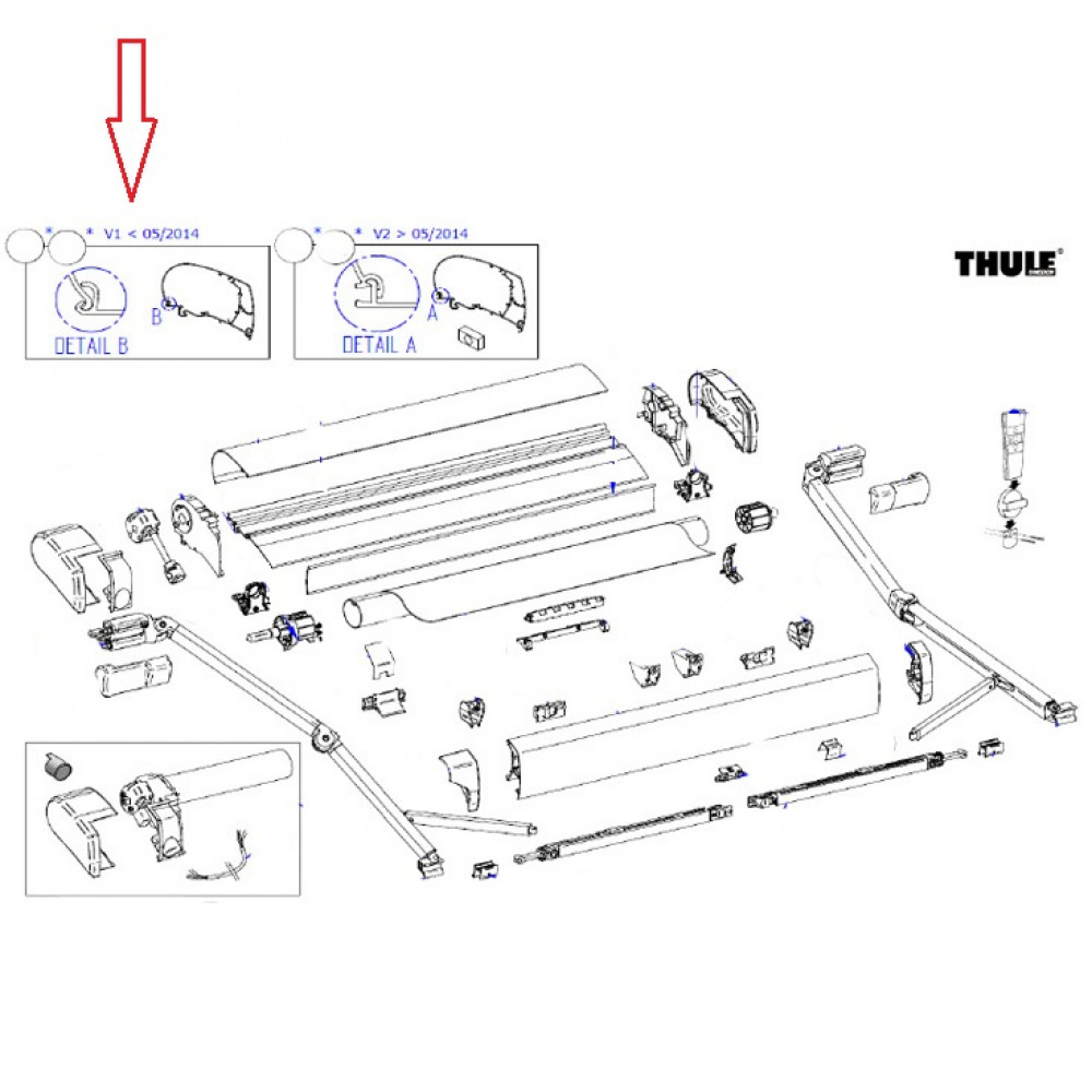 Thule cover housing 9200 5,0 m ano < 005/2014