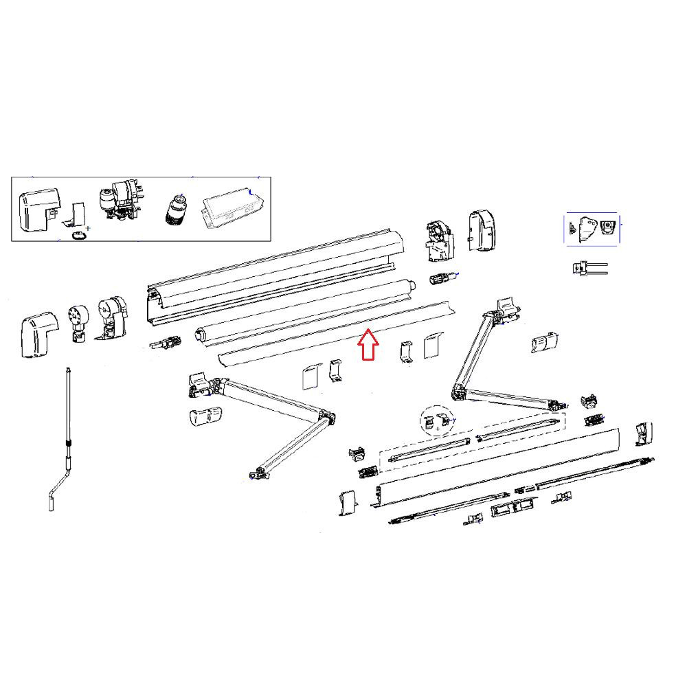 Thule Support Roller Tube Aluminium 5200 4.00