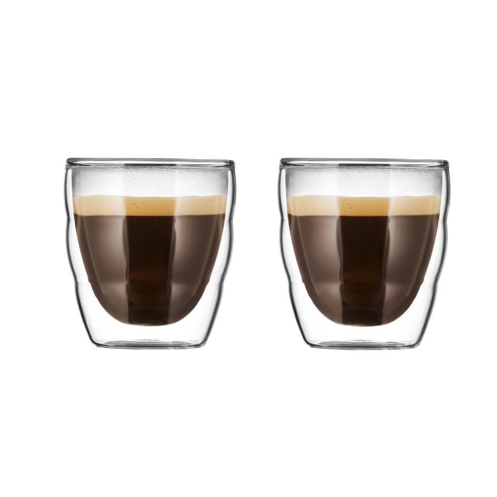 Bodum Espresso Kopjes Glas Dubbelwandig 2st.