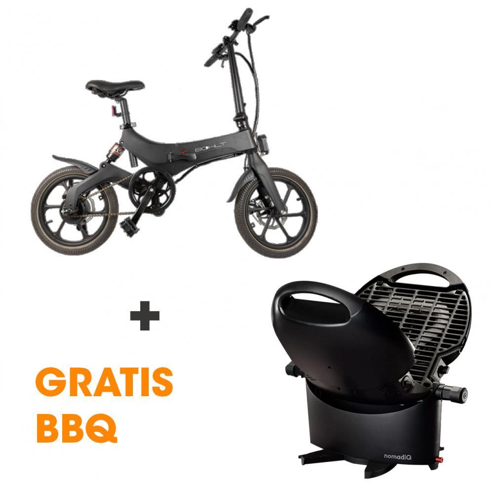 Bohlt E-Bike X160 Zwart + NomadiQ BBQ