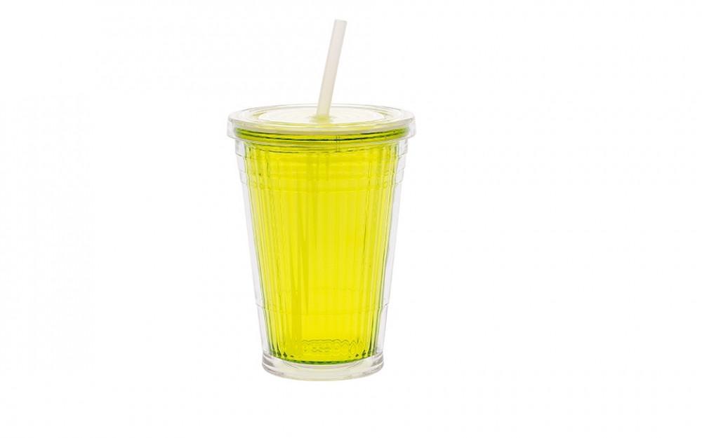 Drinkbeker met Rietje Lime