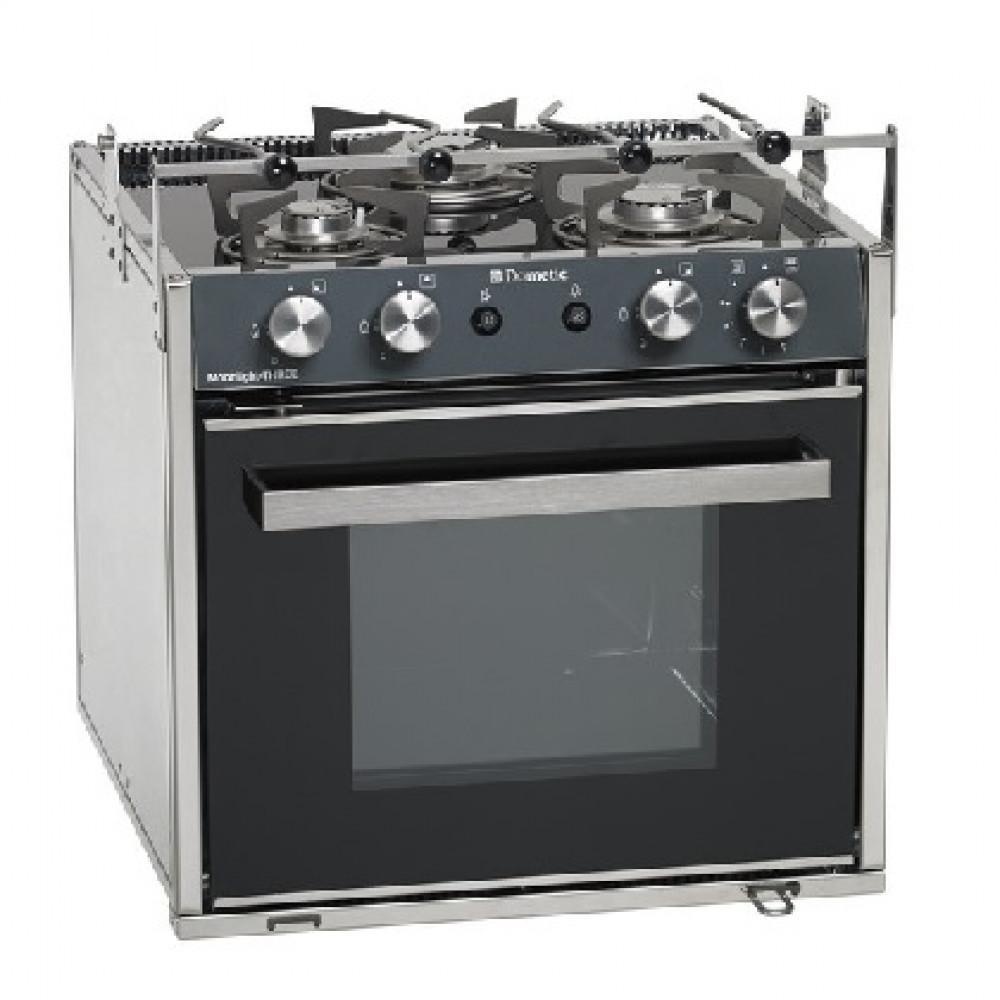 Dometic Oven m Grill & 3-Pits Kookplaat