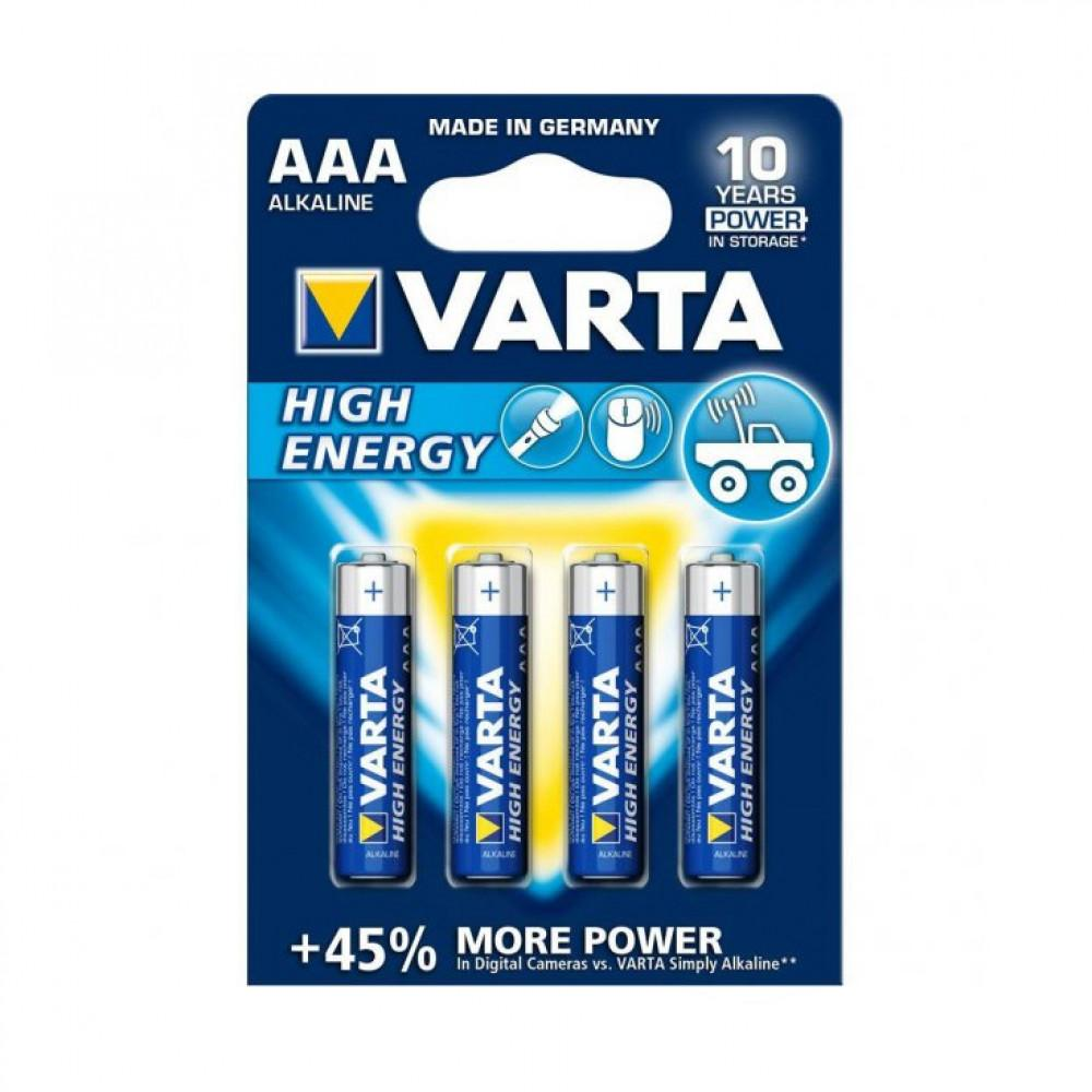 Varta High Energy Alkaline AAA Potl. L03 (bl a 4)