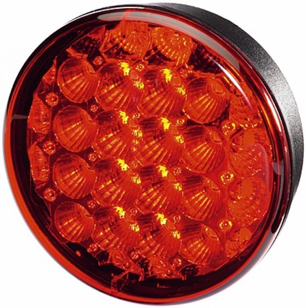 Hella Achterlicht en Remlicht LED Inbouw Rood Glas