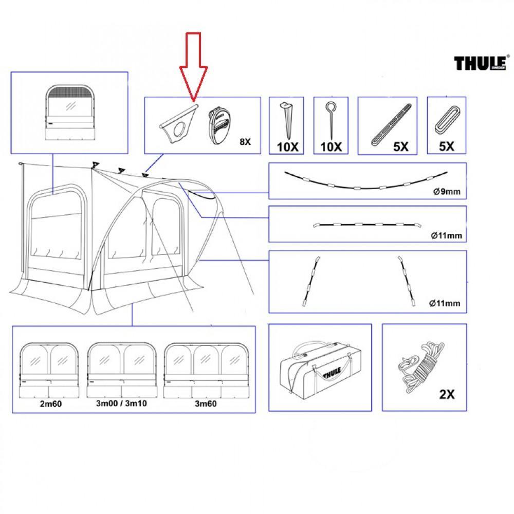 Thule bevestiging Quick Fit (8x)