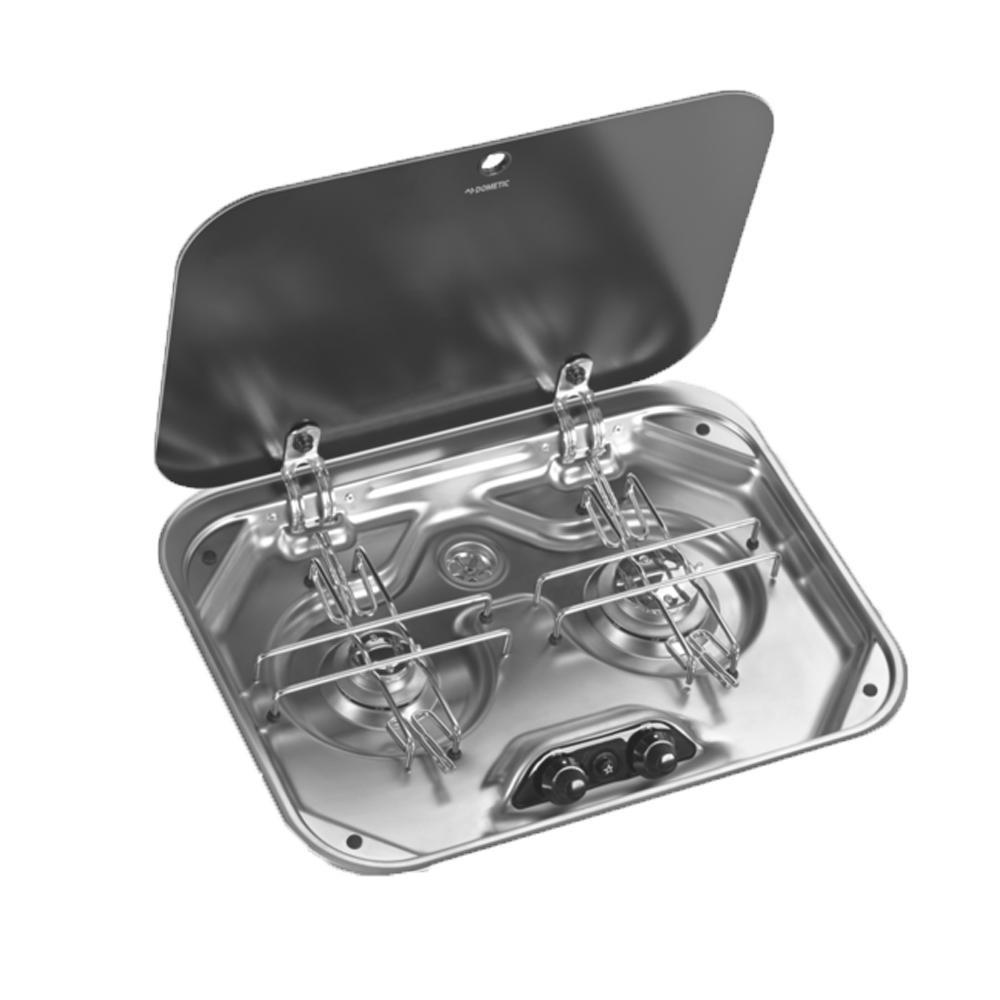 Dometic Kookplaat 2-Pits PI8062M Glazen Afdekplaat