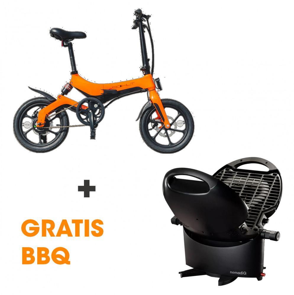 Bohlt E-Bike X160 Oranje + NomadiQ BBQ