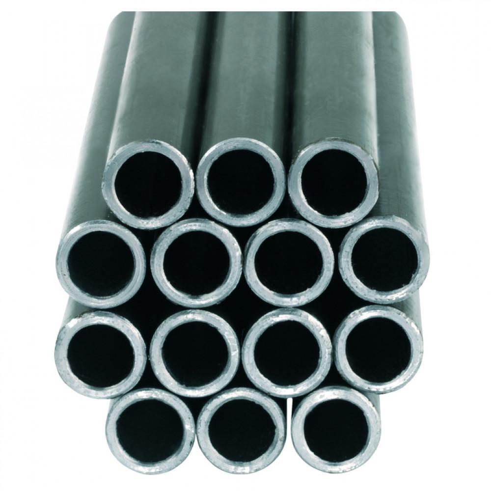 Gasleiding staal 8mm. Met kunststof ommanteling. Lengte 3mtr.