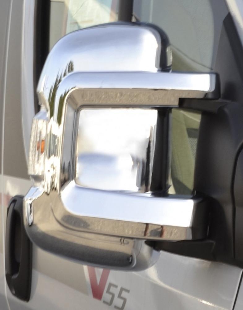 HTD Beschermkap Fiat Ducato Kort chroom a 2 st