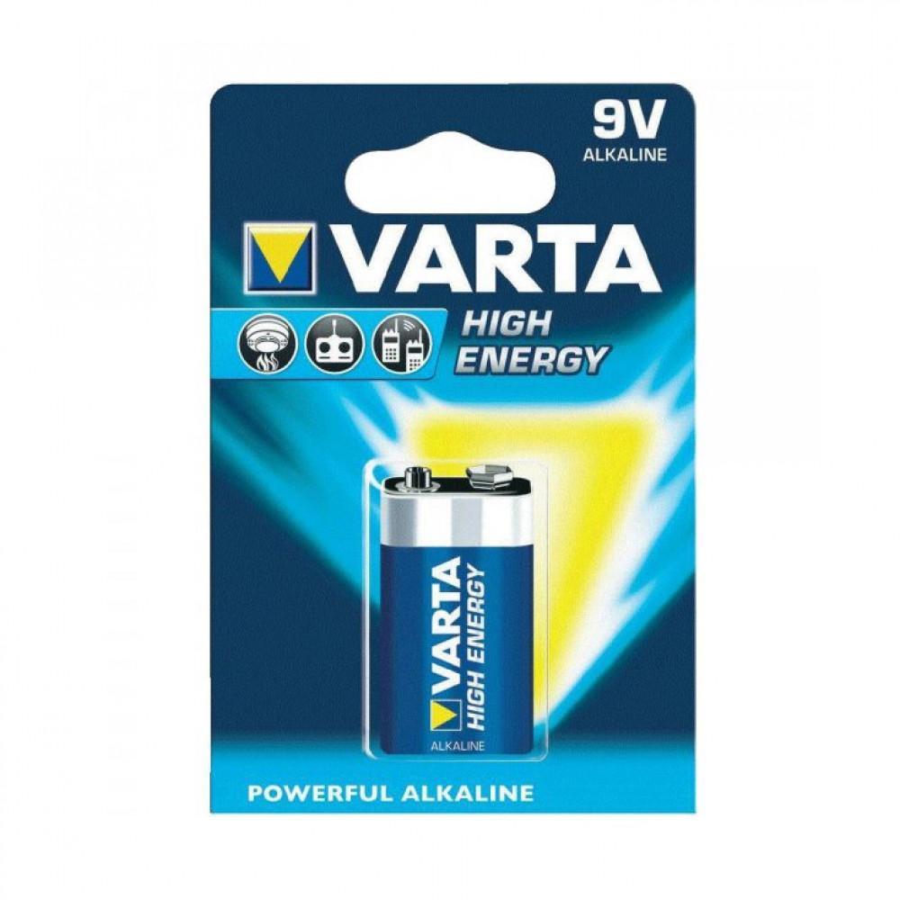 Varta High Energy Alkaline 9 Volt batterij (bl a1)