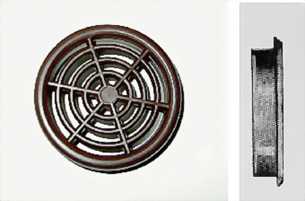 Rozet bruin 43-48mm rond opbouw à 2 st.