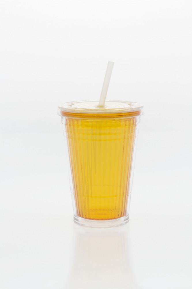 Drinkbeker met Rietje Geel