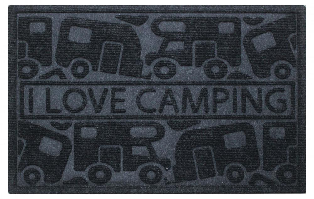 Campking Deurmat I Love Camping Zwart