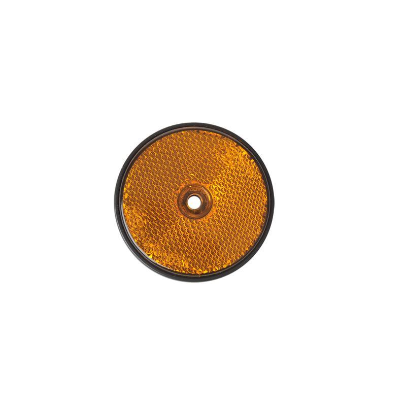 Reflector rond oranje 60mm 2 stuks