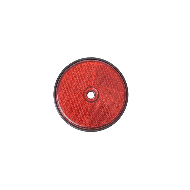 Reflector rood rond 60mm 2 stuks