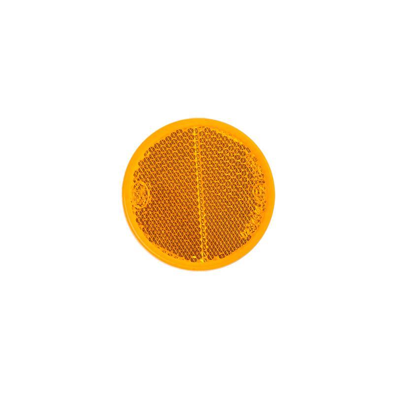 Reflector oranje rond 60mm 2 stuks