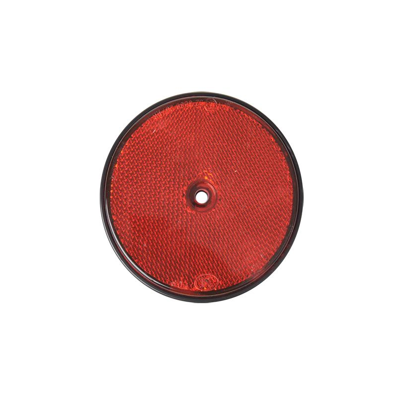 Reflector rood rond 80mm 2 stuks
