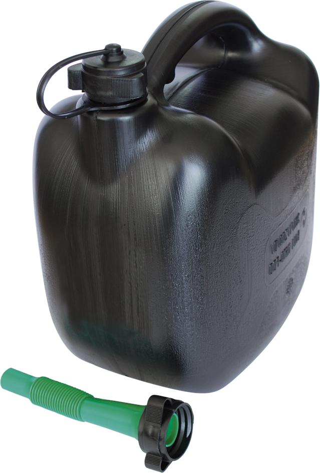 Jerrycan benzinecan 10 liter zwart met schenktuit
