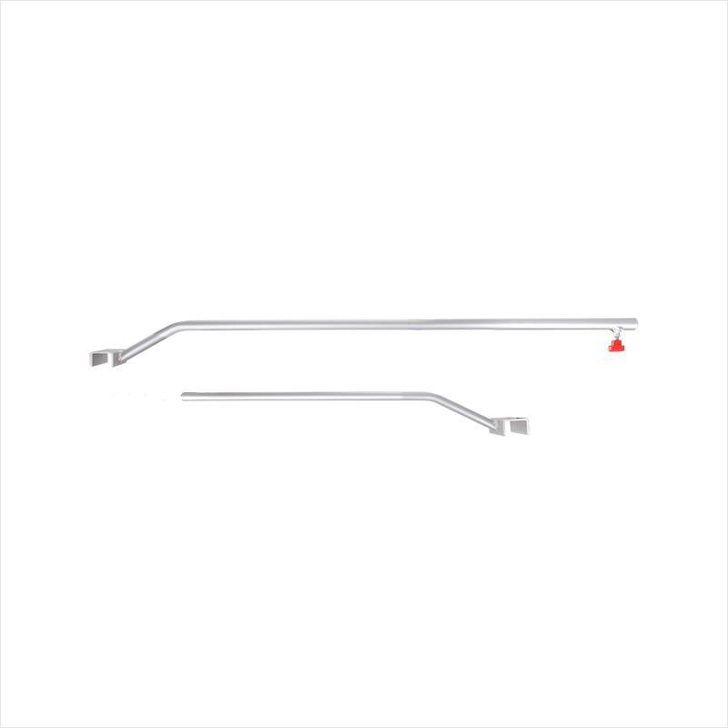 Drager aluminium uitschuifbaar 108-146cm voor aanhangerzeil