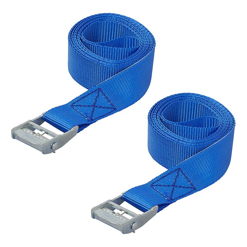 Spanband met snelsluiting 2,5 meter 2 stuks blauw