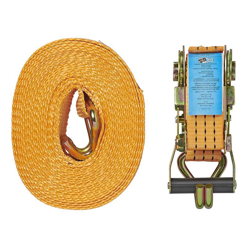 Spanband met ratel + 2 haken 8 meter 3000kg