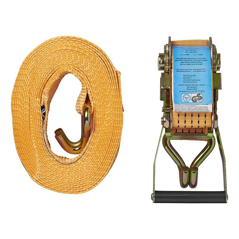 Spanband met ratel + 2 haken 8 meter 5000kg